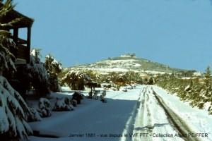 Janvier 1881 - vue depuis le VVF PTT - Collection Albert PEIFFER