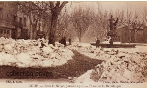Agde sous la neige 1914