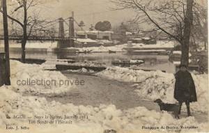 agde sous la neige 1914 - 3